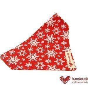 Handmade Red Christmas Fabric Dog Bandana