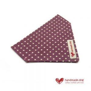 Handmade Mauve and White Spotty Dog Bandana