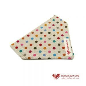 Handmade Multicoloured Spotty Dog Bandana
