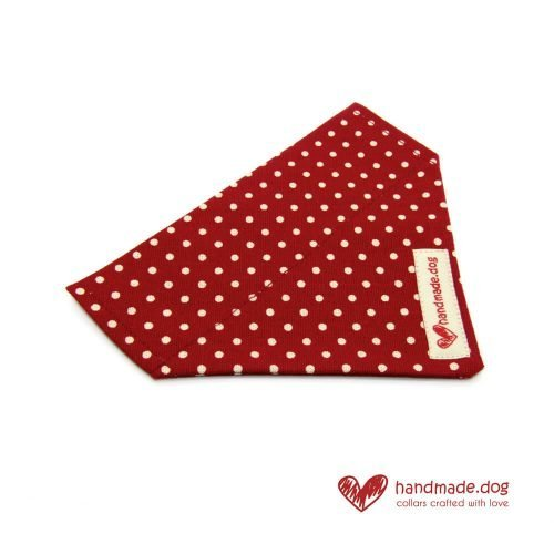 Handmade Red and White Spotty Dog Bandana