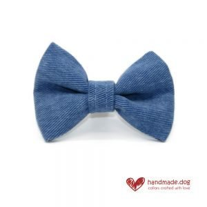 Handmade Denim Dog Dickie Bow