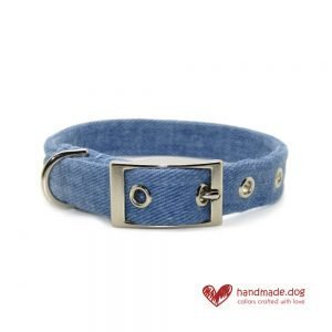 Handmade Denim Fabric Dog Collar