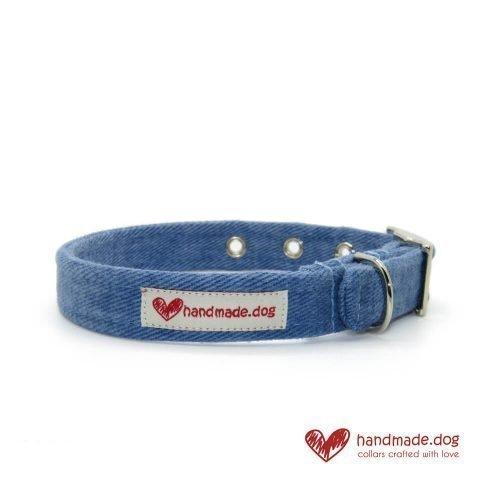 Handmade Denim Fabric Dog Collar