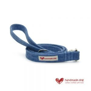 Handmade Denim Fabric Dog Lead
