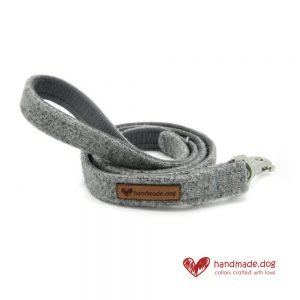Handmade Soft Grey 'Harris Tweed' Dog Lead