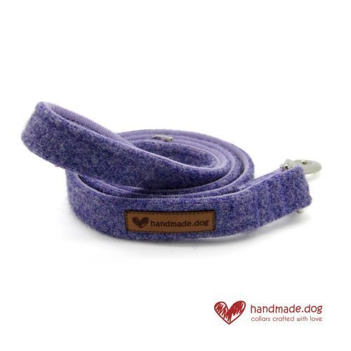 Handmade Lilac 'Harris Tweed' Dog Lead