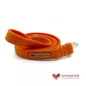 Handmade Orange 'Harris Tweed' Dog Lead