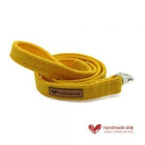 Handmade Yellow 'Harris Tweed' Dog Lead