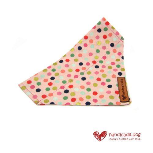 Handmade Pink Multi Spot Dog Bandana
