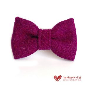 Handmade Rich Plumb 'Harris Tweed' Dog Dickie Bow