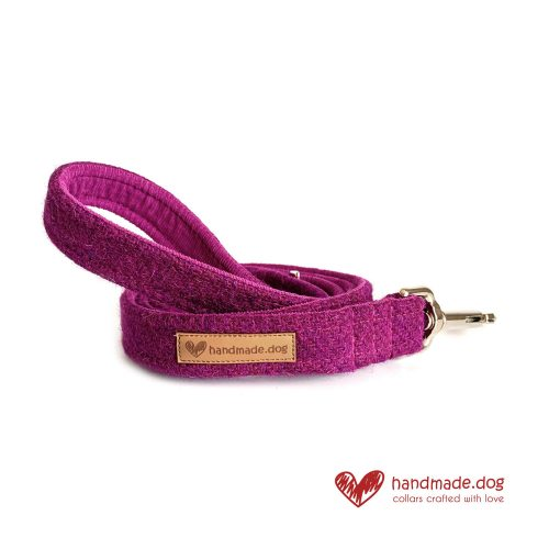 Handmade Rich Plumb 'Harris Tweed' Dog Lead