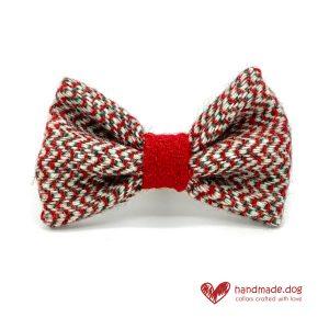 Handmade Christmas Limited Edition 'Harris Tweed' 'Noel' Dog Dickie Bow