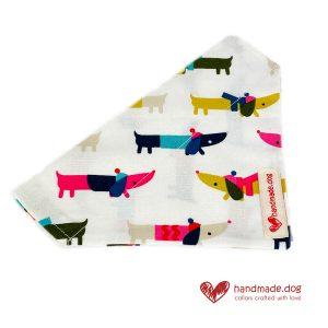 Handmade Multicoloured Dachshund Dog Bandana
