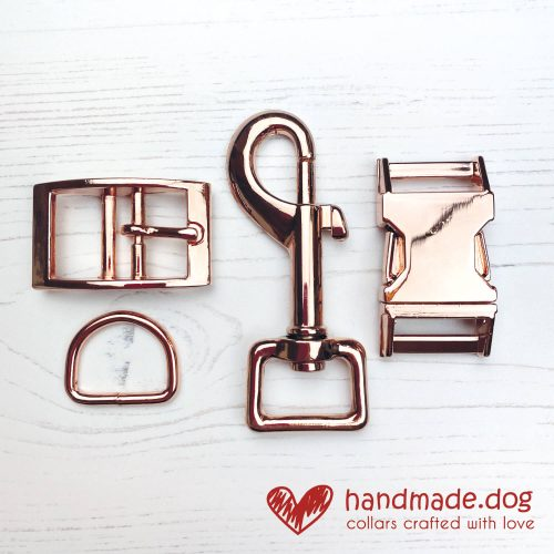 handmade.dog Rose Gold Coloured Hardware
