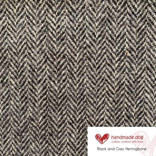 Black and Grey Herringbone 'Harris Tweed'