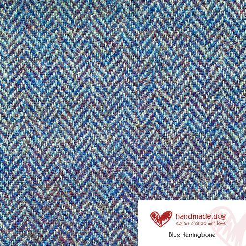 Blue Herringbone 'Harris Tweed'