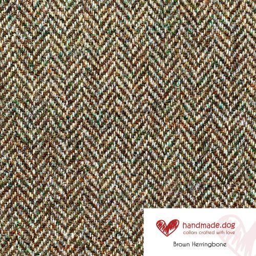 Brown Herringbone 'Harris Tweed'