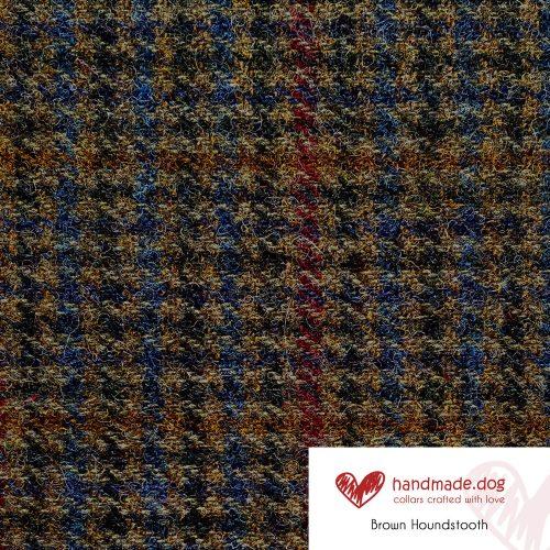 Brown Houndstooth 'Harris Tweed'