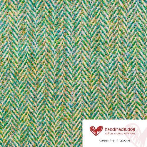 Green Herringbone 'Harris Tweed'