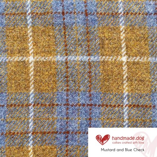 Mustard and Blue Check 'Harris Tweed'