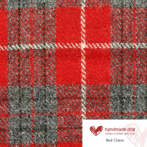 Red Check 'Harris Tweed'
