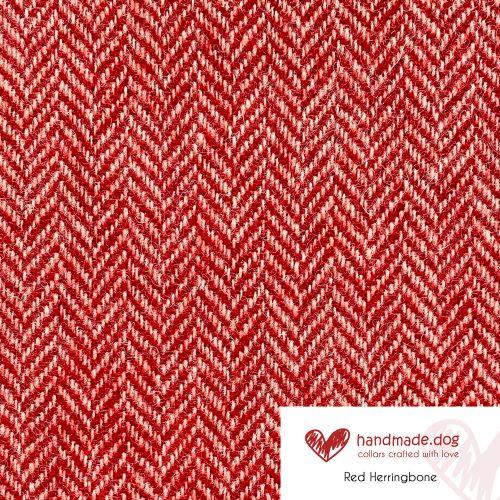 Red Herringbone 'Harris Tweed'