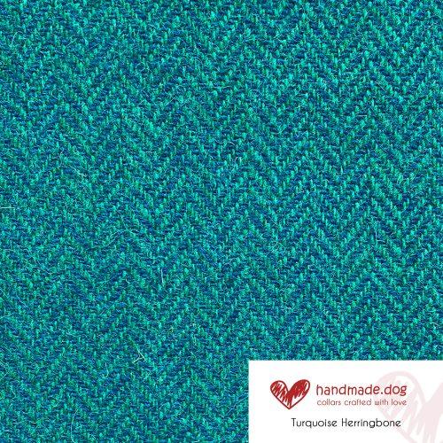 Turquoise Herringbone 'Harris Tweed'