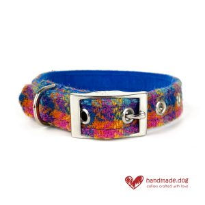 Handmade 'Harris Tweed' Limited Edition Havana Dog Collar