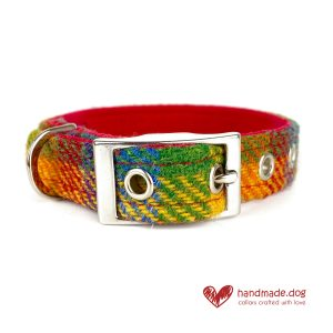 Handmade 'Harris Tweed' Limited Edition Honolulu Dog Collar