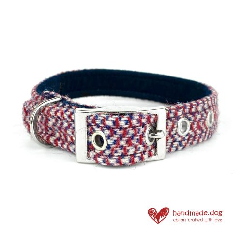 Handmade 'Harris Tweed' Limited Edition London Dog Collar