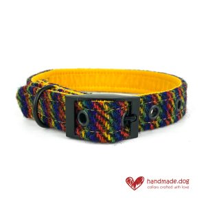 Handmade 'Harris Tweed' Limited Edition Manhattan Dog Collar