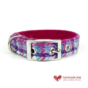 Handmade 'Harris Tweed' Limited Edition Miami Dog Collar