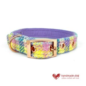 Handmade 'Harris Tweed' Limited Edition Paris Dog Collar