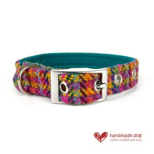Handmade 'Harris Tweed' Limited Edition Rio Dog Collar