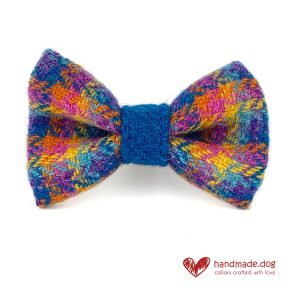Handmade 'Harris Tweed' Limited Edition Havana Dog Dickie Bow
