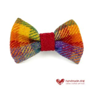 Handmade 'Harris Tweed' Limited Edition Honolulu Dog Dickie Bow