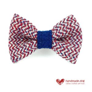 Handmade 'Harris Tweed' Limited Edition London Dog Dickie Bow