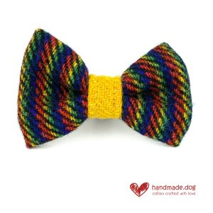 Handmade 'Harris Tweed' Limited Edition Manhattan Dog Dickie Bow