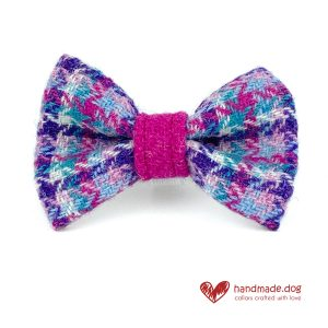 Handmade 'Harris Tweed' Limited Edition Miami Dog Dickie Bow