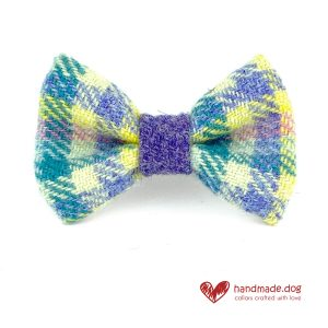 Handmade 'Harris Tweed' Limited Edition Paris Dog Dickie Bow