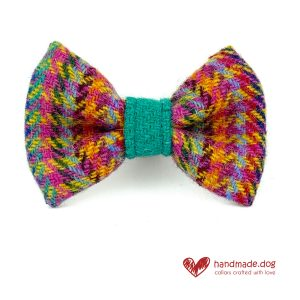 Handmade 'Harris Tweed' Limited Edition Rio Dog Dickie Bow