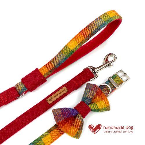 Handmade 'Harris Tweed' Limited Edition Honolulu Dog Accessory Set