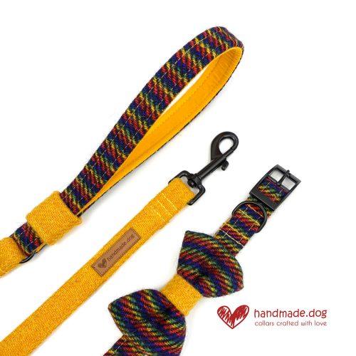 Handmade 'Harris Tweed' Limited Edition Manhattan Dog Accessory Set