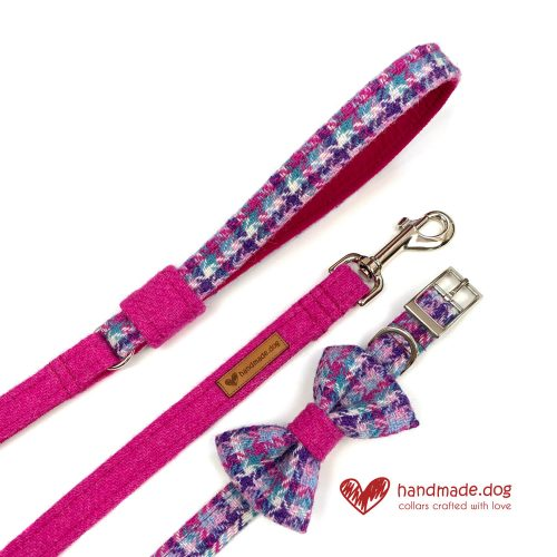 Handmade 'Harris Tweed' Limited Edition Miami Dog Accessory Set