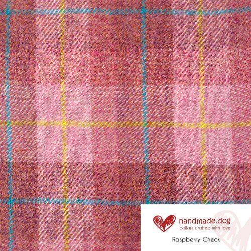 Raspberry Check 'Harris Tweed'