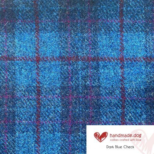 Dark Blue Check 'Harris Tweed'