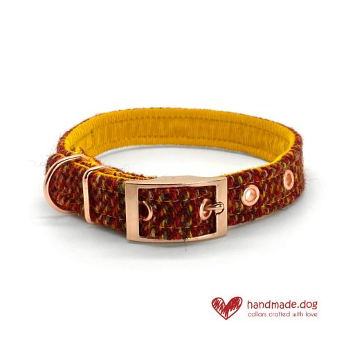 Handmade 'Harris Tweed' Limited Edition Bucharest Dog Collar
