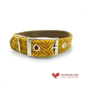 Handmade 'Harris Tweed' Limited Edition Cairo Dog Dickie Collar