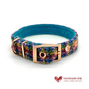 Handmade 'Harris Tweed' Limited Edition Marrakesh Dog Collar