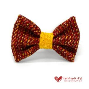 Handmade 'Harris Tweed' Limited Edition Bucharest Dog Dickie Bow